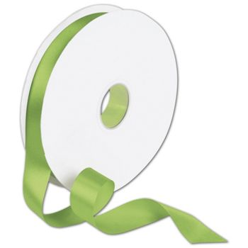 Double Face Apple Green Satin Ribbon, 7/8