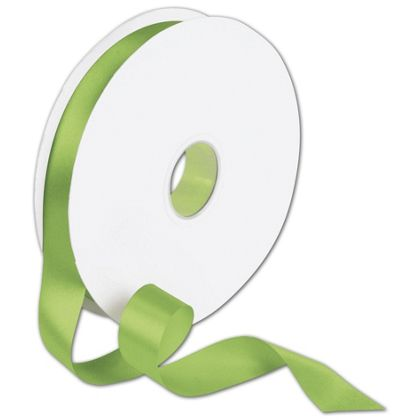 "Double Face Apple Green Satin Ribbon, 7/8"" x 100 Yds"