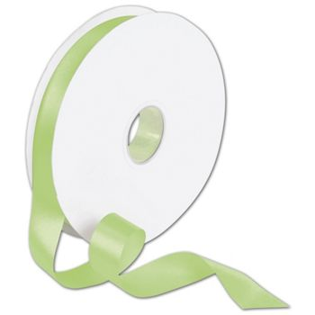 Double Face Lime Satin Ribbon, 7/8