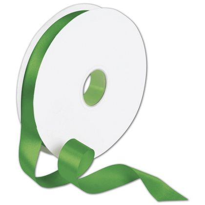 "Double Face Emerald Green Satin Ribbon, 7/8"" x 100 Yds"
