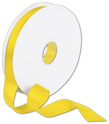 Double Face Yellow Satin Ribbon, 7/8