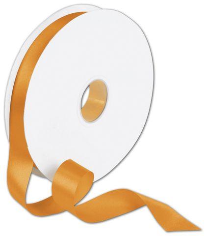 "Double Face Orange Satin Ribbon, 7/8"" x 100 Yds"