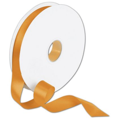 "Double Face Orange Satin Ribbon, 7/8"" x 100 Yds"