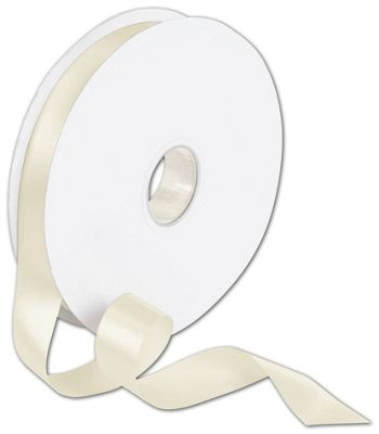 Double Face Cream Satin Ribbon, 7/8