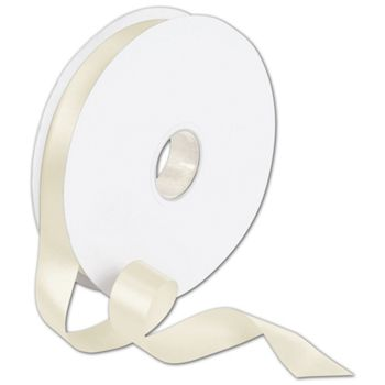 "Double Face Cream Satin Ribbon, 7/8"" x 100 Yds"