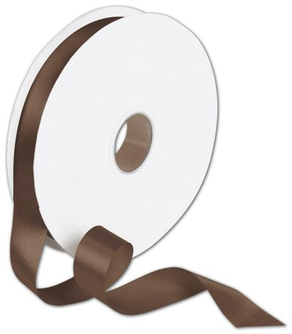 "Double Face Chocolate Satin Ribbon, 7/8"" x 100 Yds"