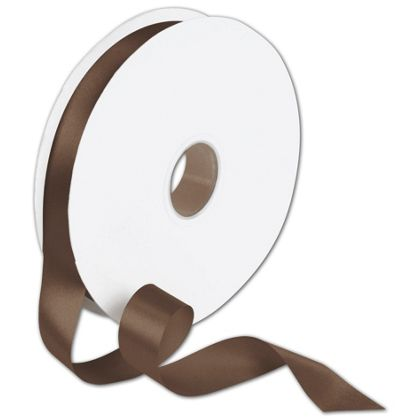"Double Face Chocolate Satin Ribbon, 7/8"" x 100 Yds"