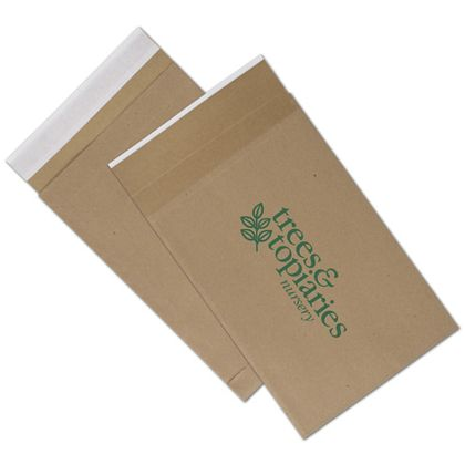 Natural Kraft Printed Eco-Mailers, 1 Color, 9 1/2x14 1/2""