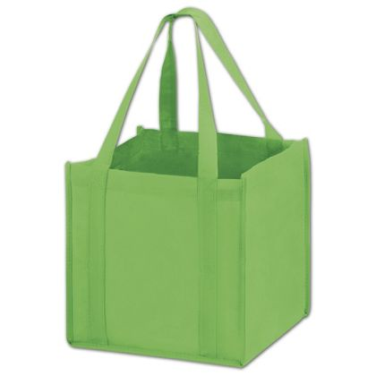 Lime Unprinted Non-Woven Tote Bags, 10 x 10 x 10