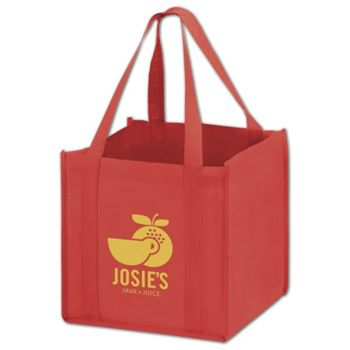 """Red Non-Woven Tote Bags, 10 x 10 x 10"""""""