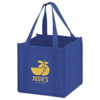Royal Blue Non-Woven Tote Bags, 10 x 10 x 10