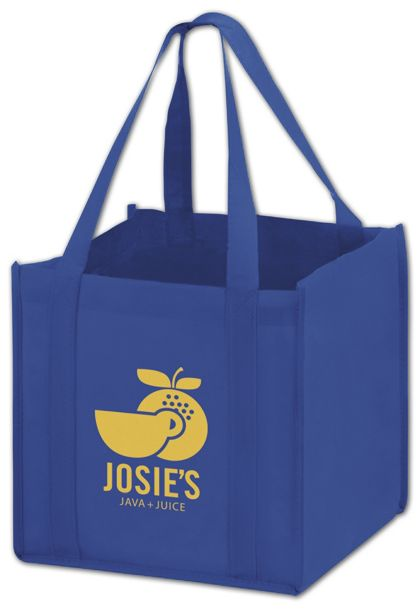 Royal Blue Non-Woven Tote Bags, 10 x 10 x 10""