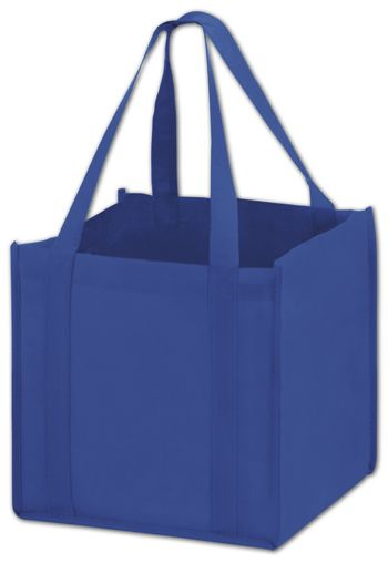 Royal Blue Unprinted Non-Woven Tote Bags, 10 x 10 x 10