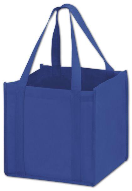 "Royal Blue Unprinted Non-Woven Tote Bags, 10 x 10 x 10"""