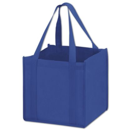 Royal Blue Unprinted Non-Woven Tote Bags, 10 x 10 x 10""