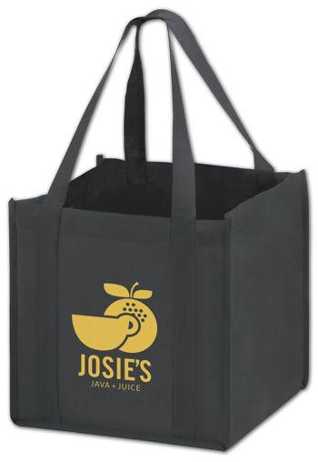 Black Non-Woven Tote Bags, 10 x 10 x 10