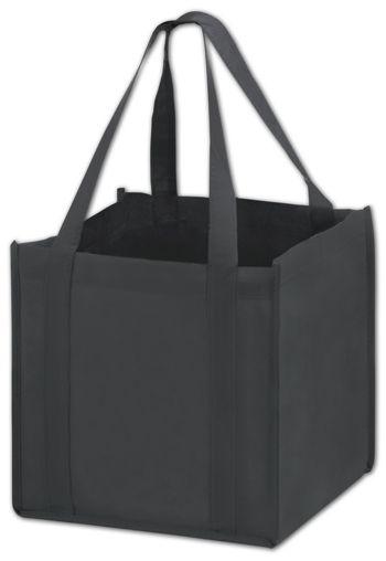 Black Unprinted Non-Woven Tote Bags, 10 x 10 x 10