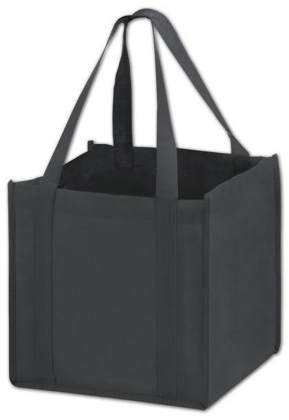 """Black Unprinted Non-Woven Tote Bags, 10 x 10 x 10"""""""