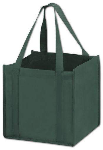 Hunter Green Unprinted Non-Woven Tote Bags, 10 x 10 x 10
