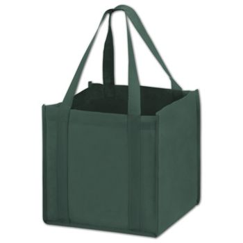 Hunter Green Unprinted Non-Woven Tote Bags, 10 x 10 x 10""