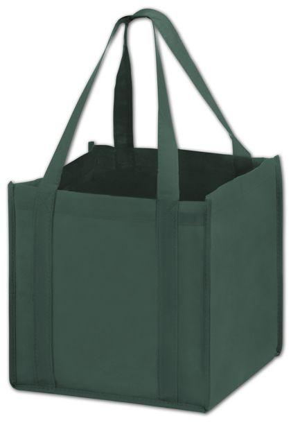 """Hunter Green Unprinted Non-Woven Tote Bags, 10 x 10 x 10"""""""