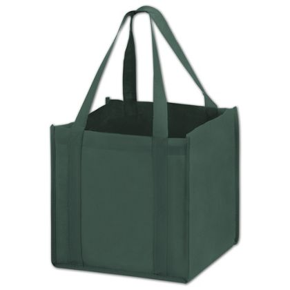 Hunter Green Unprinted Non-Woven Tote Bags, 10 x 10 x 10