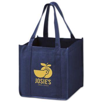 Navy Non-Woven Tote Bags, 10 x 10 x 10