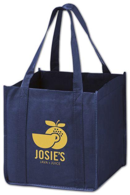 """Navy Non-Woven Tote Bags, 10 x 10 x 10"""""""