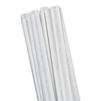 White Paper Twist Ties, 4""