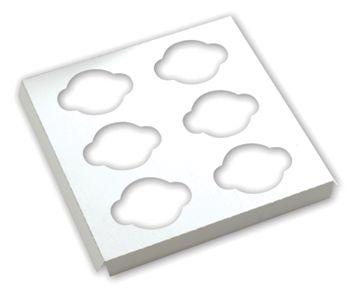 White Standard Cupcake Platforms, 6 Cupcakes