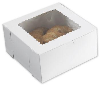 White Windowed Bakery Boxes, 10 x 10 x 5