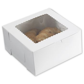 White Windowed Bakery Boxes, 10 x 10 x 5