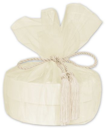 Ivory Organza Wraps with Tassels, 28