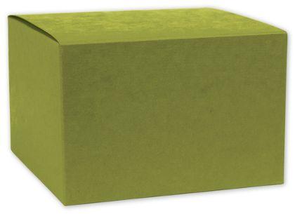 """Kiwi Green Gift Boxes, 4 x 4 x 4"""""""