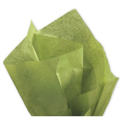 "Solid Tissue Paper, Green Tea, 20 x 30"""