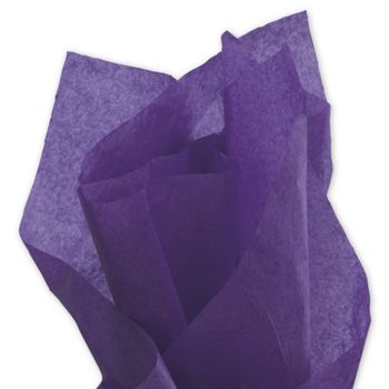 Solid Tissue Paper, Purple, 20 x 30""