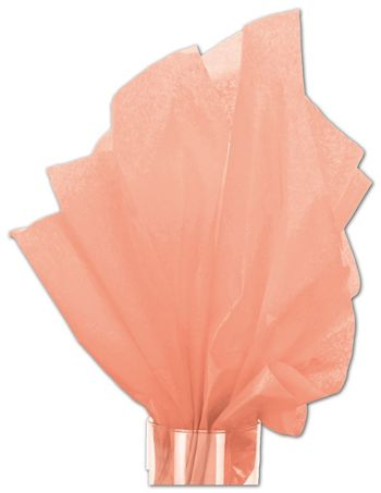 Solid Tissue Paper, Coral, 20 x 30