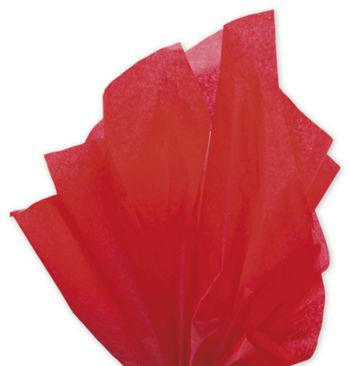 Solid Tissue Paper, Scarlet, 20 x 30