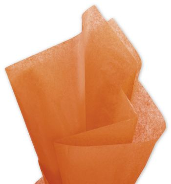 Solid Tissue Paper, Orange, 20 x 30