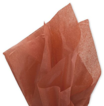 "Solid Tissue Paper, Cinnamon, 20 x 30"""