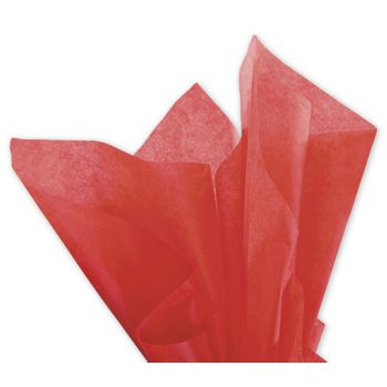 Solid Tissue Paper, Mandarin Red, 20 x 30