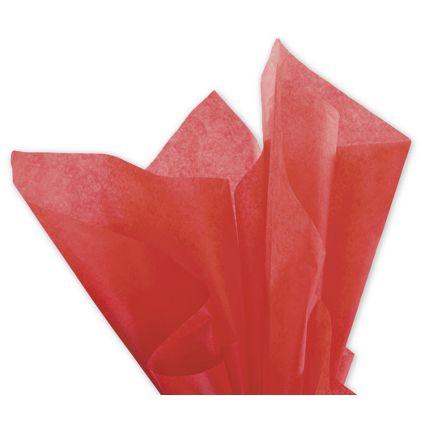 "Solid Tissue Paper, Mandarin Red, 20 x 30"""