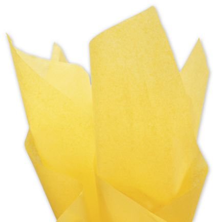 Solid Tissue Paper, Buttercup, 20 x 30""