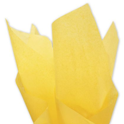 """Solid Tissue Paper, Buttercup, 20 x 30"""""""