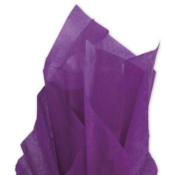 Solid Tissue Paper, Plum, 20 x 30