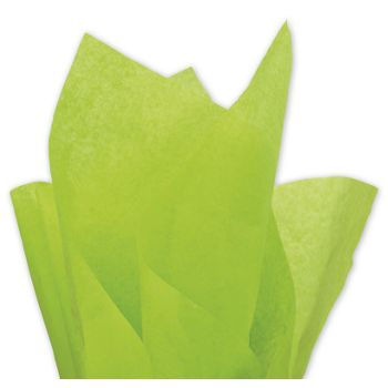 Solid Tissue Paper, Citrus Green, 20 x 30