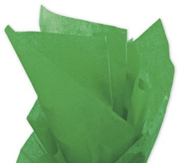 Solid Tissue Paper, Kelly Green, 20 x 30