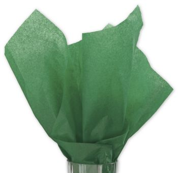 Solid Tissue Paper, Holiday Green, 20 x 30