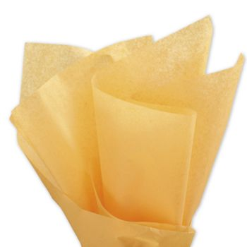 Solid Tissue Paper, Harvest Gold, 20 x 30