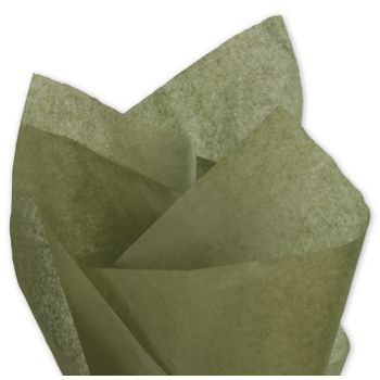 Solid Tissue Paper, Olive Green, 20 x 30